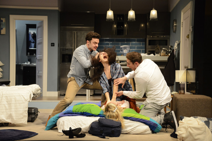 Theatre Royal Bath at The Theatre Royal Haymarket Feb 2016 Bad Jews by Joshua Harmon Directed by Michael Longhurst Designed by Richard Kent Lighting Designer Richard Howell lLan Goodman as Liam Ailsa Joy as Daphna Jos Slovick as Johan Antonia Kinlay as Melody ©NOBBY CLARK +44(0)7941-515770 +44(0)20-7274-2105 nobby@nobbyclark.co.uk