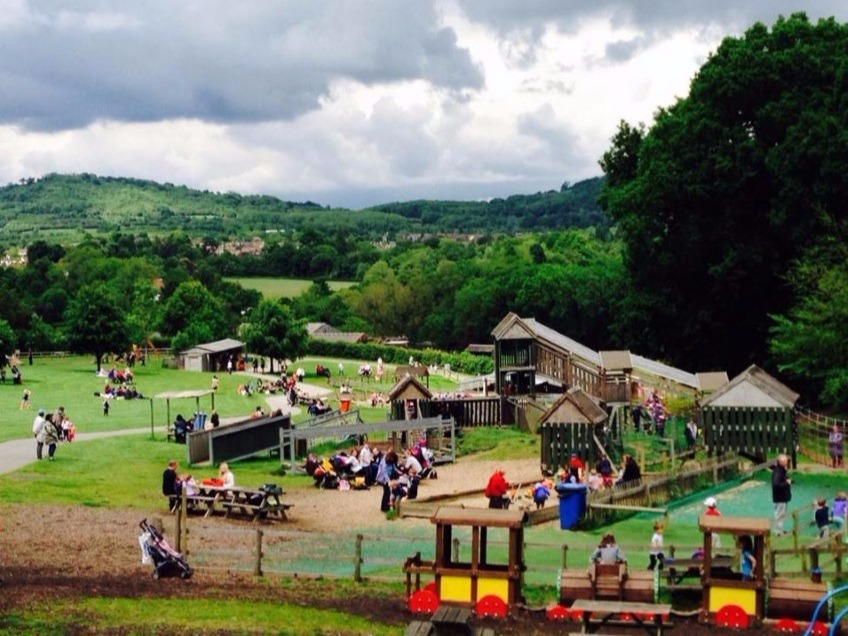 Adventure playground at Godstone Farm, Surrey