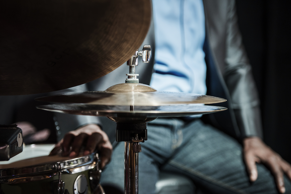 Drummer performing in an event, jazz