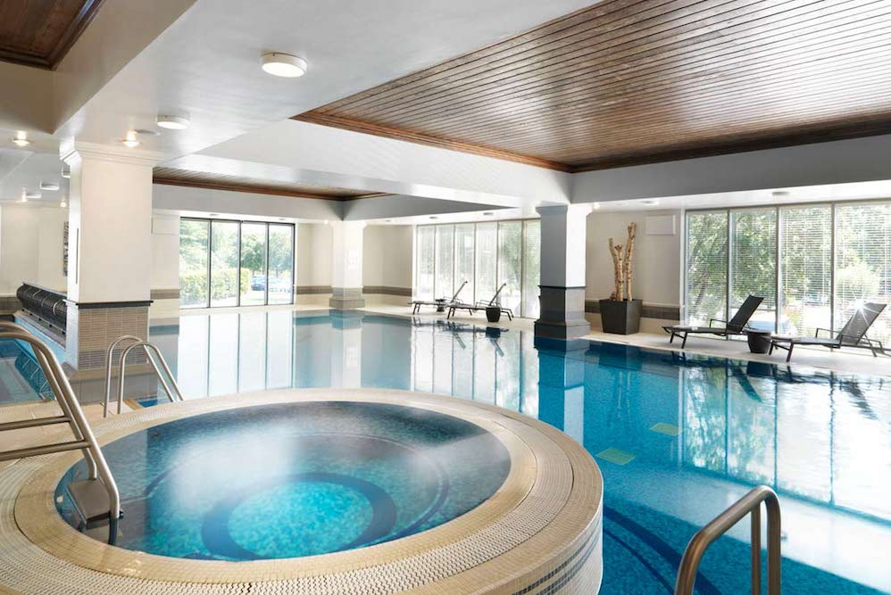 The spa facilities, runnymede on thames at Egham, Surrey