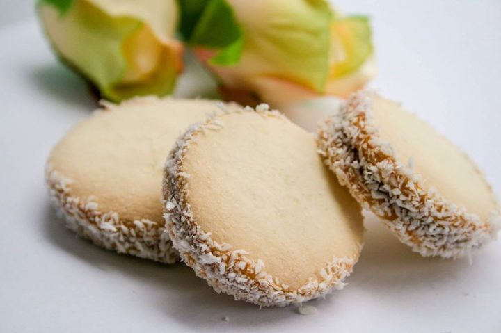 Alfajores with Dulce de Leche (think, Latin macaroons filled with smooth, velvety caramel)
