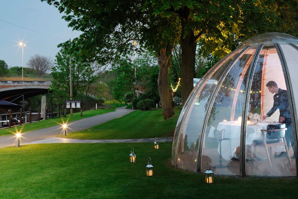The Runnymede on Thames, Egham, Surrey, dome private dining experience
