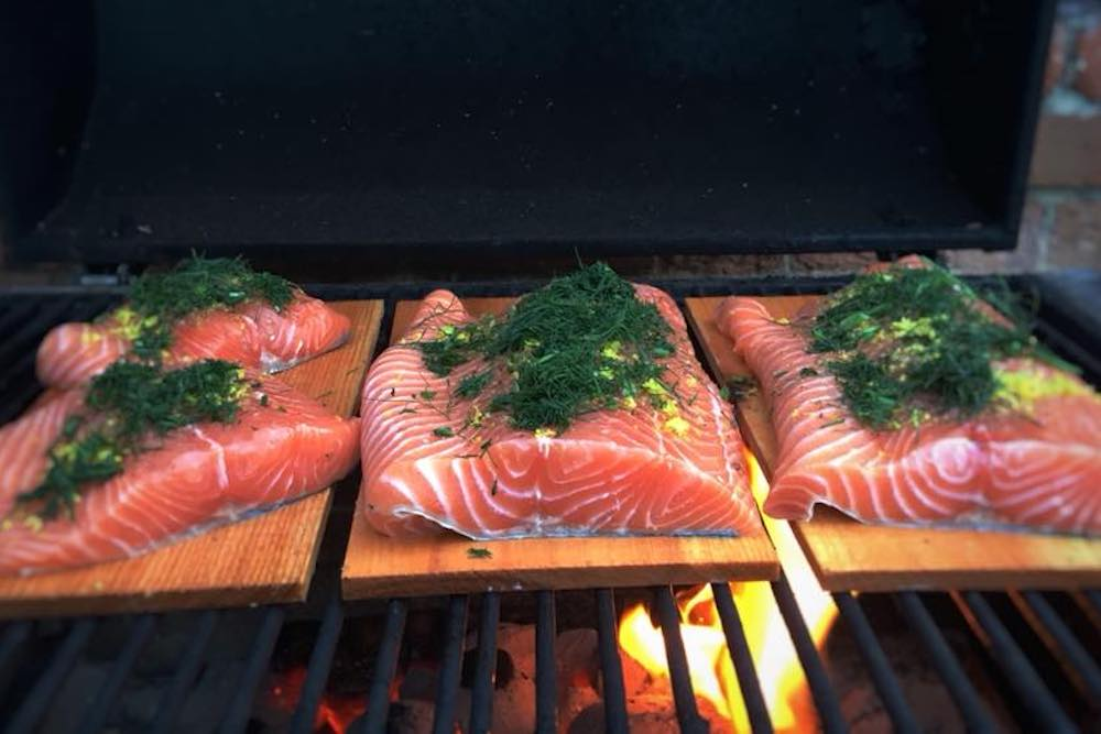 Williams and Bunkell Fishmonger, Claygate, Surrey, Grilled salmon