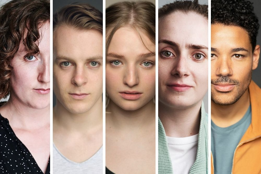 The cast of The Snow Queen, Yvonne Arnaud Theatre, Guildford