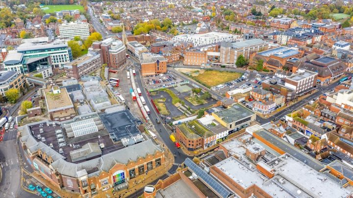 St Edward North Street Regeneration - Aerial image of site
