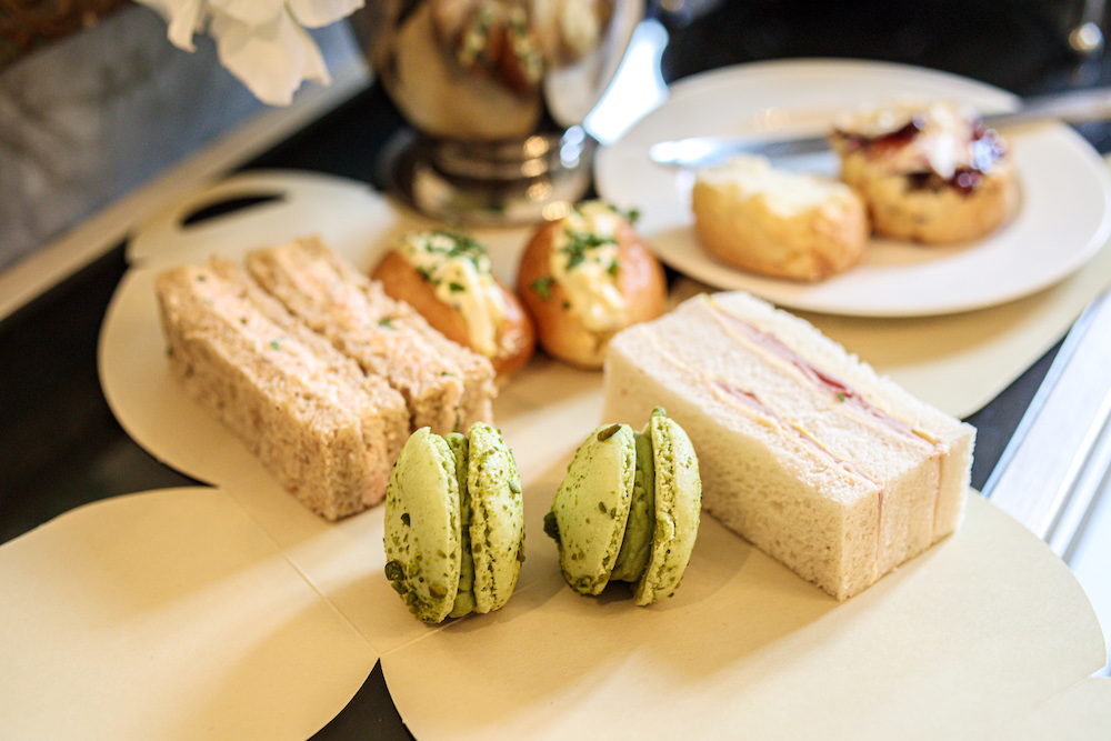 Afternoon tea delivery, Great Fosters, Barnett Hill, Langhott Manor