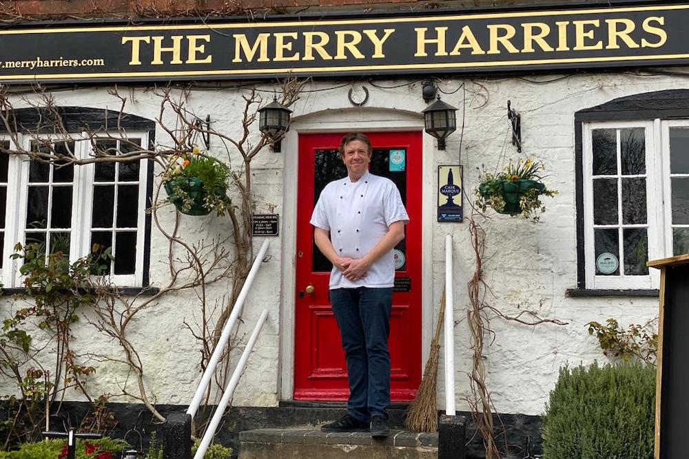 Nick Ash, chef at The Merry Harriers in Hambledon, near Godalming, Surrey